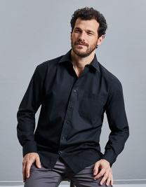 Men´s Long Sleeve Pure Cotton Poplin Shirt