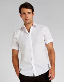 Mens Slim Fit Business Shirt Short Sleeve